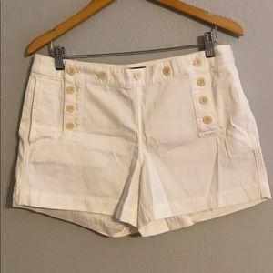 White Button Shorts